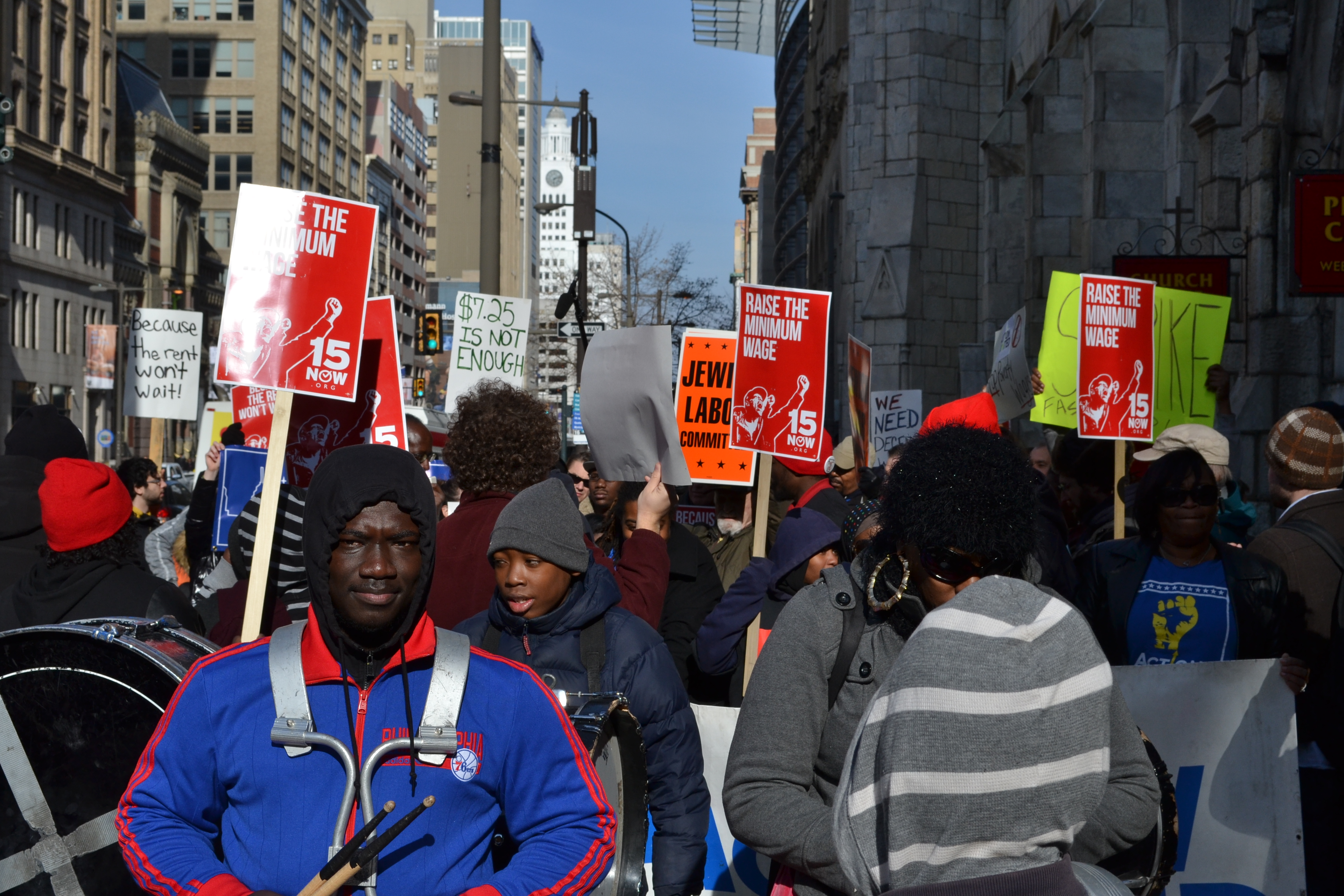 Marching for a Living Wage - December 2014