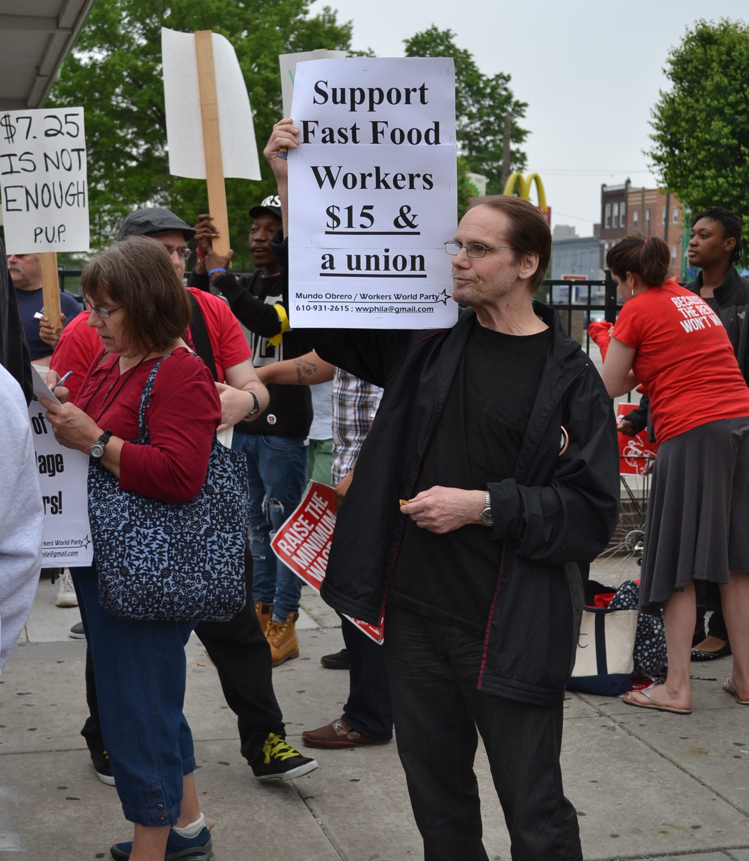 Rally for Fast Food Workers Rights May 2014