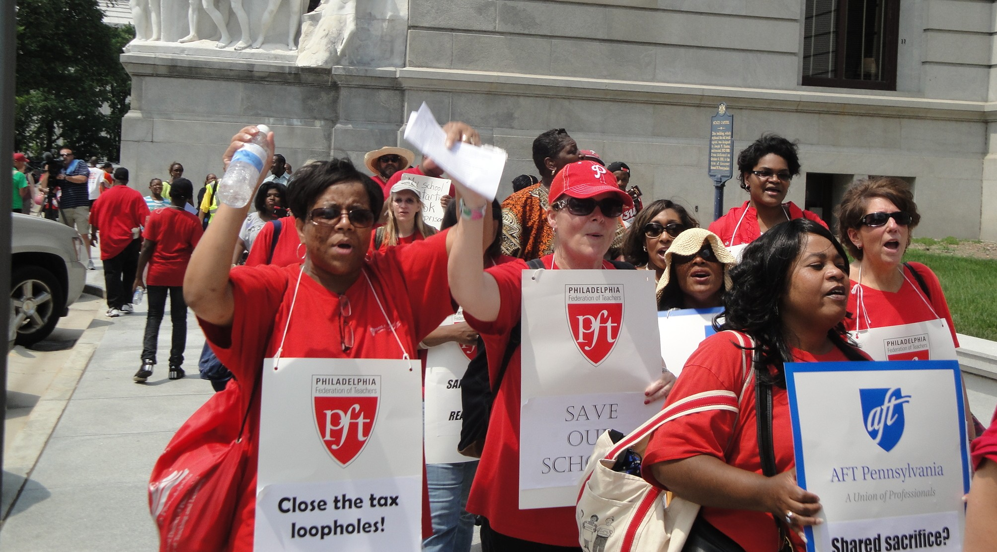 Supporting Public School Teachers March on Harrisburg in June 2013
