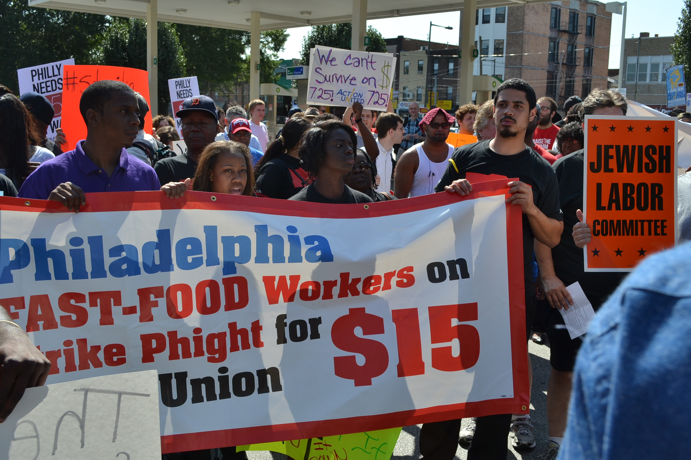 Supporting Striking Fast Food Workers - September 2014